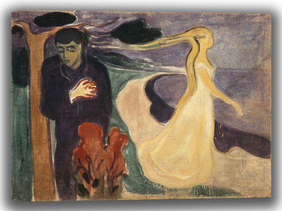 Munch, Edvard: Separation. Fine Art Canvas. Sizes: A4/A3/A2/A1 (0078)